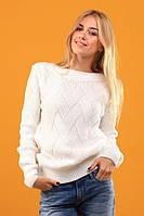 """Белый нарядный теплый свитер """"Вива"""""""