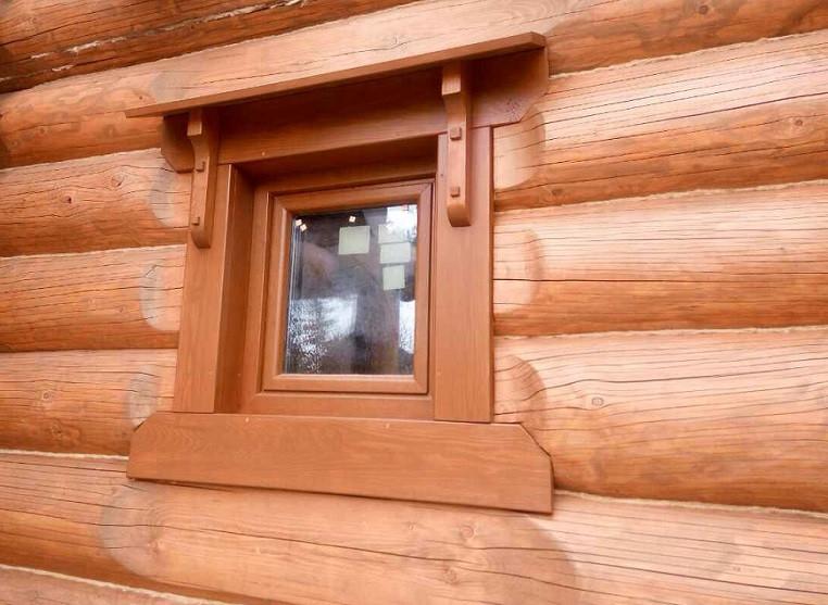 Пластиковое окно Rehau в деревянный дом