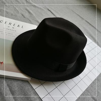 Шляпа женская фетровая Челентанка черная
