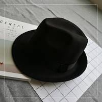 Шляпа женская фетровая Челентанка черная, фото 1