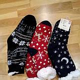 """Шкарпетки теплі з підошвою """"плямки"""" на флісі домашні, фото 3"""