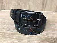 Женский кожаный ремень Cinturify под джинсы, длина 105-125 см. Черный