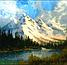 """Алмазная мозаика 40×30см - набор """"Заснеженные горы"""" Художник Robert Norman Ross, фото 2"""