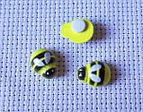 Декор для бантів і скрапу. Бджола на липучці, 9х12 мм, фото 2