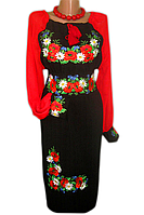 "Жіноче вишите плаття ""Кетрін"" (Женское вышитое платье ""Кетрин"") PD-0001"