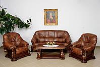 Новый Кожаный диван и два кресла Miami 3+1+1, Шкіряний диван і два крісла
