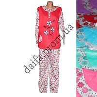 Женская пижама (тонкая байка) PY59 (р-ры 46-54) оптом c8518d95c3c3b