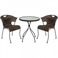 Комплект  для обіду BILLY  плетений з ротангу стіл 60см+ 4 крісла