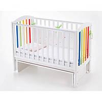 Кроватка для новорожденных Верес ЛД10 Соня маятник белый/радуга