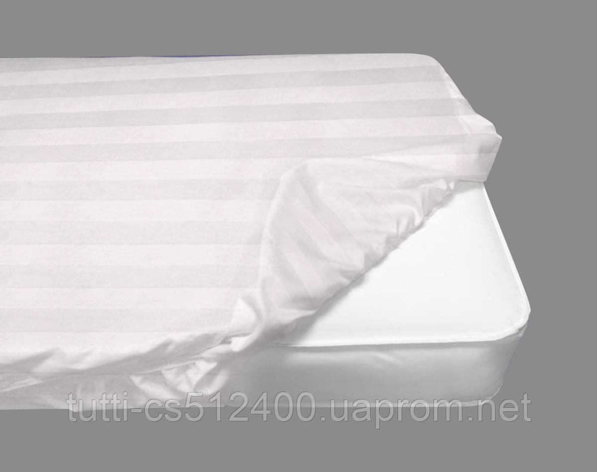 Белые простыни на резинке  сатин U-tek 90х190 - 2 шт. - Постельное белье в интернет-магазине Tutti-Home Украина Киев в Киеве