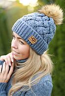Зимняя женская шапка на флисе модная