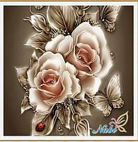"""Алмазная вышивка размер изображения 30×30 - набор """"Английские розы"""""""