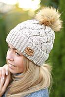 Зимняя женская шапка на флисе
