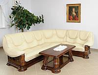 Новый Кожаный угловой диван Grizzly 3,10 на 2,5 м.. Шкіряний кутовий диван.