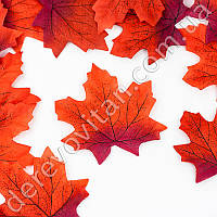 Листья осенние декоративные, красный клен 9.7 × 10 см см,100 шт.