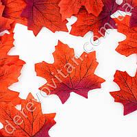 Листья осенние декоративные, красный клен 8 × 9 см,100 шт.
