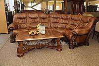 Новый Кожаный угловой диван Cezar 3,2 на 2.7 м., Шкіряний кутовий диван
