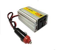 Авто инвертор, преобразователь напряжения 12V-220V 200W