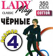 Колготы женские хлопок Lady May Classic Cotton 350 Den, размер 4
