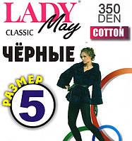Колготы женские хлопок Lady May Classic Cotton 350 Den, размер 5/6