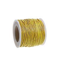 Нить, Шнур, Хлопок 1mm, Жёлтый, для Ожерелья / Браслета