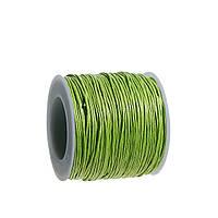 Нить, Шнур, Хлопок 1mm, Зелёный, для Ожерелья / Браслета