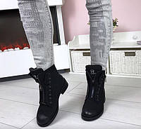 Ботинки женские Эко Кожа (Нубук) Демисезон Копия Бренда
