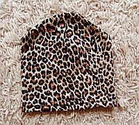 Детская одинарная леопардовая шапочка