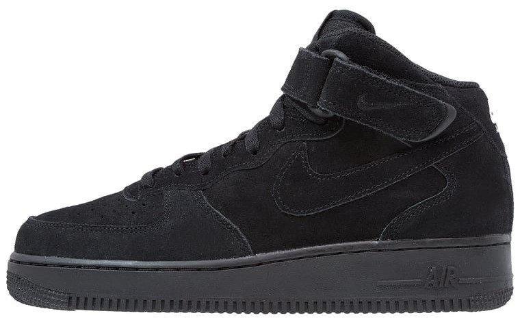 cd865602 Зимние кроссовки Nike Air Force 1 Black (Найк аир форс 1 черные) на меху