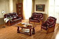Новый Кожаный диван и кресло Kevin 3+1 Шкіряний диван і крісло