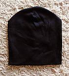 Дитяча подвійна однотонна шапочка, фото 2