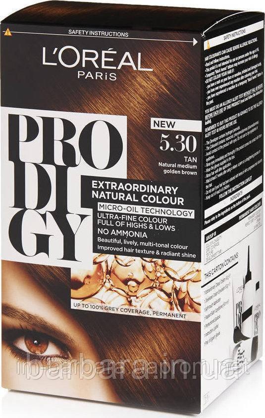 Краска для волос Loreal PRODIGY 5.30 (Золотисто-коричневый)