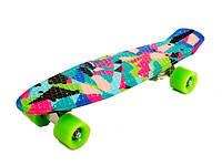Скейт (Скейт SK17101 (8шт)металл.крепление,колеса PU, 53*15*9)
