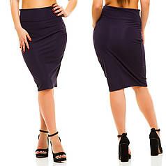 Классическая женская трикотажная юбка ниже колена