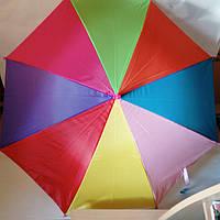 Парасолька дитяча MK 0356 Веселка (зонт детский Радуга) Рожевий