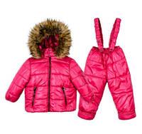 Детский зимний комбинезон для девочки (размеры от 1 до 4 лет)