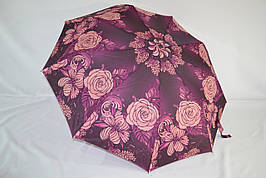 """Женский зонт полуавтомат от фирмы """"AMICO"""" с качественным каркасом."""