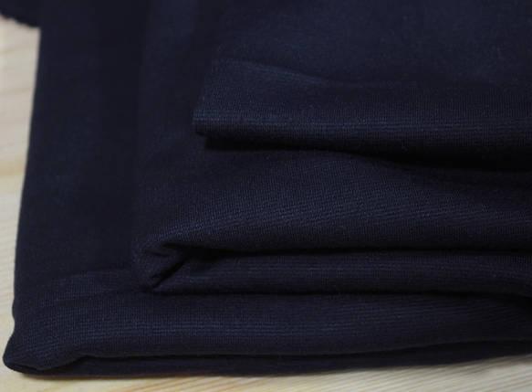 Французский трикотаж темно- синий, фото 2