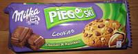 Печенье Milka Pieguski Choco Cookies Nut (c кусочками шоколада и орехами), 135 гр