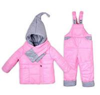 Детский зимний комбинезон Гномик с шарфиком (размеры от 1 до 4 лет)