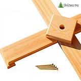 """Ялинка """"Чорна"""" на дерев'яній підставці + гірлянда у подарунок, фото 2"""