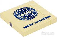 Бумага для заметок с липким слоем 75х75 мм 100 шт. желтая Global Notes