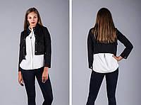 Черная женская куртка укороченная