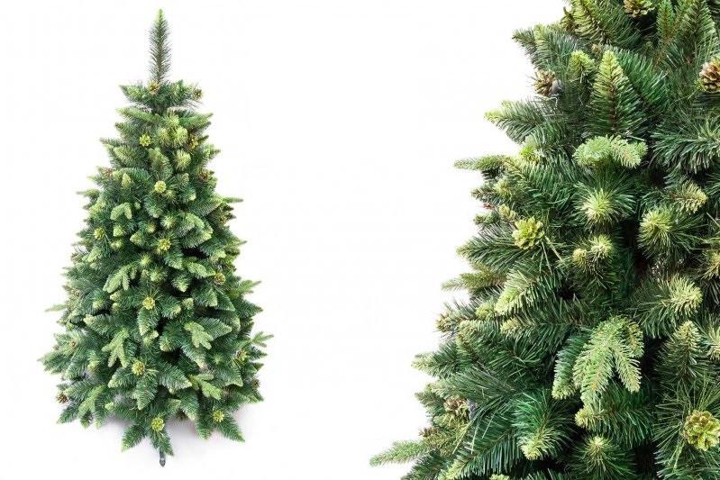 """Сосна """"Зеленая"""" на пластиковой подставке + гирлянда в подарок"""