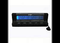 """Автомобильные часы + термометр VST 7037 """"соня""""/ прикурка-батарейка"""