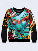 СВИТШОТ DIGITAL WOLF; XXS, XS, S, M, L, XL, фото 1