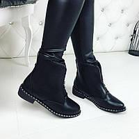 Женские демисезонные ботиночки чёрные Польша