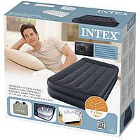 Надувной матрас кровать со встроенным электронасосом Intex 64122