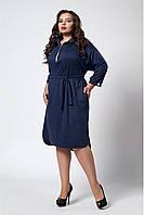 Повседневное платье в рубашечном стиле больших размер