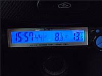"""Автомобильные часы + термометр VST 7043 """"соня""""/ прикурка-батарейка"""